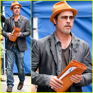 Brad Pitt Steps Out with Hi