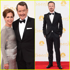 Bryan Cranston & Aaron Paul Suit Up for Emmys 2014!