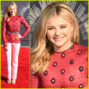 Chloe Moretz Covers Up In Louis Vuitton at MTV VMAs 2014