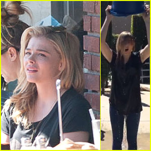 Chloe Moretz Feels the Freeze During ALS Ice Bucket Challenge!