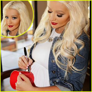 Christina Aguilera's Baby Bump Looks So Big in 'Pass the Red Cup' Campaign Pics