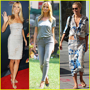 Heidi Klum Keeps Busy in NYC Before 'America's Got Talent' Quarter-Finals!