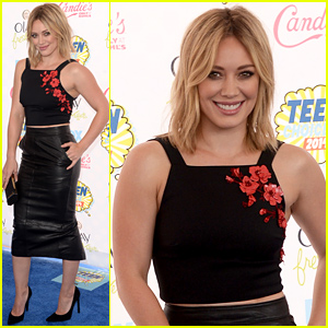 Hilary Duff Goes a Bit Floral at the Teen Choice Awards 2014