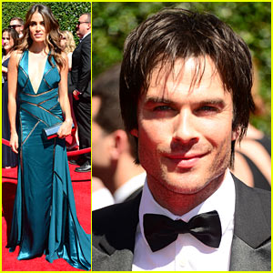 Ian Somerhalder & Nikki Reed Attend the Creative Arts Emmys 2014