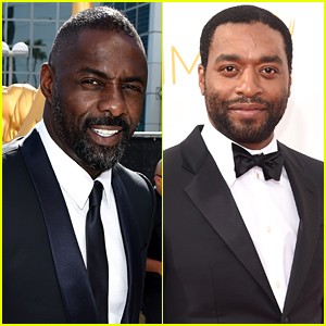 Nominees Idris Elba & Chiwetel Ejiofor Pose for Pictures at the Emmys 2014