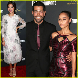 Jamie Chung & Jesse Metcalfe Party with 'EW' for Emmys 2014