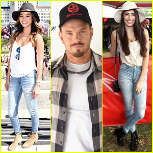 Jamie Chung & Kellan Lutz Hang with American Eagle Outfitters at Budweiser's Made In America Festival 2014