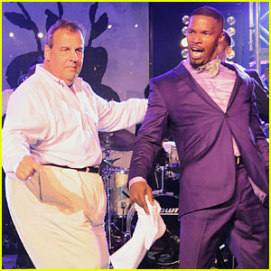 Jamie Foxx & Chris Christie Bust a Move Together! (Video)