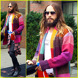Jared Leto Is So Colorful Before His 30 Seconds to Mars Concert!