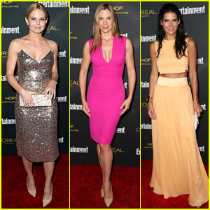 Jennifer Morrison & Mira Sorvino Both Make Bold Fashion Statements at EW's Emmys Party 2014