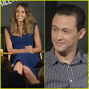 Jessica Alba & Joseph Gordon-Levitt Are Happy to Promote 'Sin City: A Dame to Kill For'
