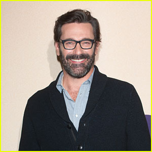 Jon Hamm Brings His Beard to 'Million Dollar Arm' Screening