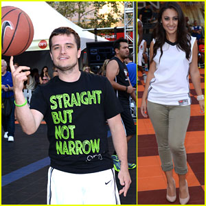 Josh Hutcherson Brings His Skills to His Celebrity Basketball Game!