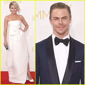 Julianne & Brother Derek Hough Are Dressed To Impress at Emmys 2014