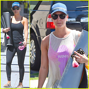 Kaley Cuoco Changes It Up at Her Yoga Session