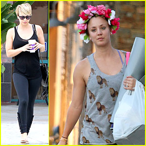 Kaley Cuoco Is the Epitome of Royalty By Wearing a Floral Crown