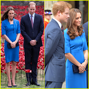 Kate Middleton & Prince William Visit Stunning Ceramic Poppy Installation in London