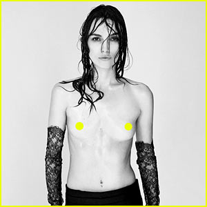 Keira Knightley Goes Totally Topless for 'Interview'
