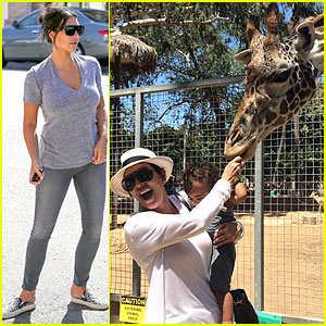 Kim Kardashian's Daughter North West Gets to Feed Giraffe at San Diego Zoo