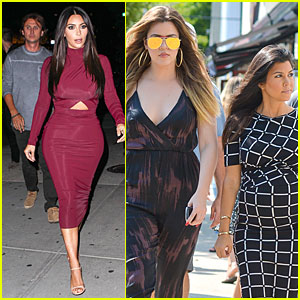 Kim Kardashian Shows Midriff In Sexy Dress at Dinner with BFF Jonathan Cheban