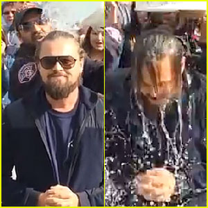 Leonardo DiCaprio Accepts Ice Bucket Challe