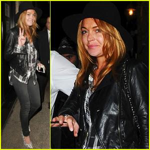 Lindsay Lohan Shares Billy Joel Lyrics After Chiltern Night Out