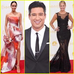 Mario Lopez & Louise Roe Hit the Emmys 2014 Red Carpet