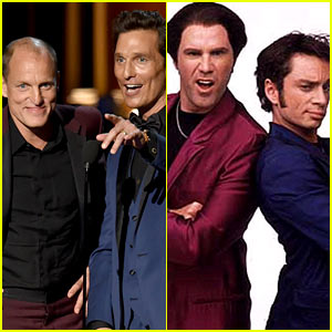 Matthew McConaughey & Woody Harrelson Channel 'Night at the Roxbury' at Emmys 2014!