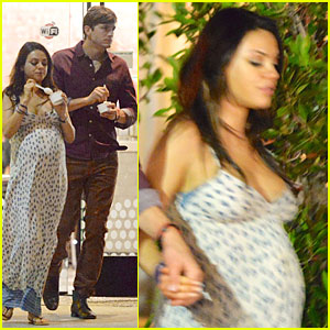 Mila Kunis & Ashton Kutcher Grab Ice Cream For Her 31st Birthday!