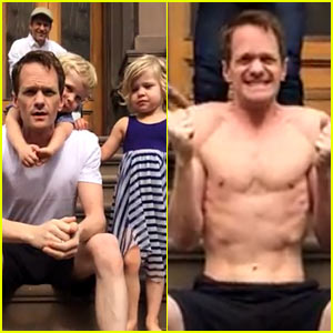 Neil Patrick Harris Gets Help from Family for Ice Bucket Challenge