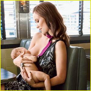 Olivia Wilde Breastfeeds Her Son Otis for 'Glamour' September 2014 (Photos)
