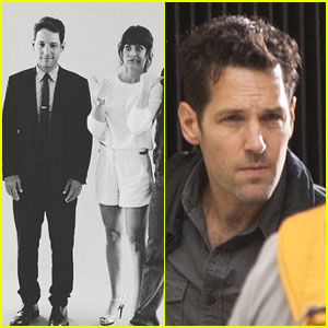 Paul Rudd is Joined on the 'Ant-Man' Set by Evangeline Lilly!