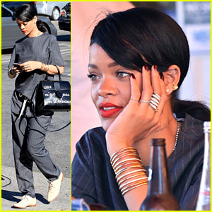 Rihanna Takes 'Monster Tour' Break to Grab Lunch with Gal Pal