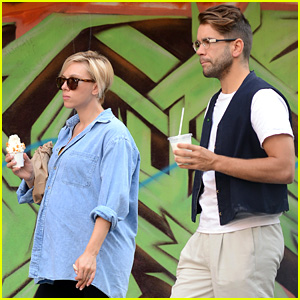 Scarlett Johansson Indulges in Ice Cream Pr