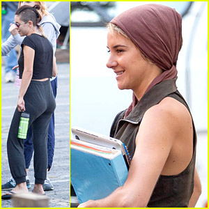 Shailene Woodley & Theo James Get Back To Work on 'Insurgent' Set