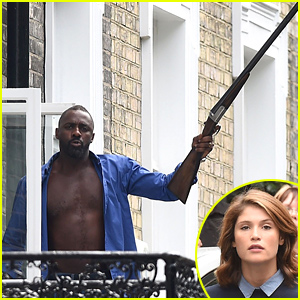 Shirtless Idris Elba Goes Ballistic with a Huge Gun for 'Hundred Streets'