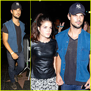 Taylor Lautner & Girlfriend Marie Avgeropoulos Are Still Going Strong at Hollywood Concert
