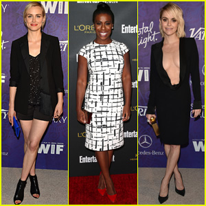 Taylor Schilling & Uzo Aduba Bring 'Orange is the New Black' to the Pre-Emmys Parties