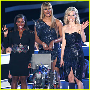 Taylor Schilling & Uzo Aduba Shine in Black at MTV VMAs 2014