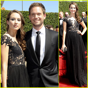 Troian Bellisario & Patrick J. Adams Get Cute at the Creative Arts Emmys!