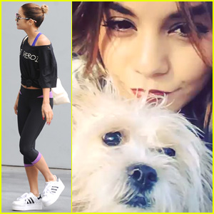Vanessa Hudgens Has a Dance Party with Her Pup Darla (Video)
