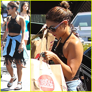 Vanessa Hudgens Shows Off Muscles At Whole Foods