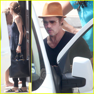 Brad Pitt & Angelina Jolie Take The Family Bowling in Malta