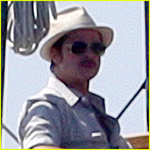 Brad Pitt Gets Into Character for 'By the Sea' Filming