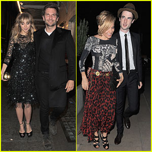 Bradley Cooper & Suki Waterhouse Meet Up With Sienna Miller & Tom