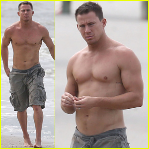 Channing Tatum Went Shirtless on the Beach - See the Hot Photo