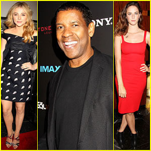 Chloe Moretz & Denzel Washington Buddy Up at 'The Equalizer' Premiere!