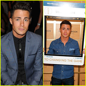 Colton Haynes Suits Up for NYFW & Has His Moet Moment!