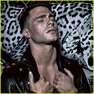 Colton Haynes Sheds Sexy Tears at the Zoo for 'VMan' Mag