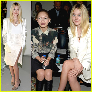 Dakota Fanning Joins Tavi Gavinson For Rodarte Show at NYFW